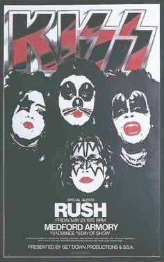 Would have been an epic show! Kiss Concert, Concert Flyer, Tour Posters, Band Posters, Music Posters, Paul Stanley, Gene Simmons, Banda Kiss, Heavy Metal