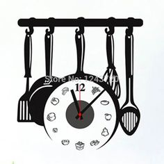 2017 Hot Ing Novelty Kitchen Cooking Tool Style Wall Clock