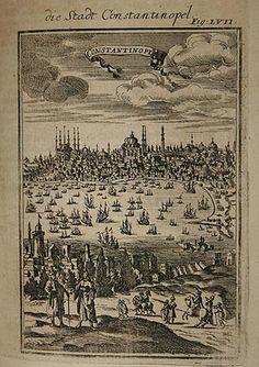 Alain M. Mallet, İstanbul. 'Açıklama de L'Evren', Paris 1684. Bakır Baskı.