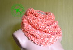 Hand knitted scarf. Carroty infinity scarf. Mebius knit scarf. Wool scarf. Knitted snood. Warm snood. Winter wraps. Women's scarf. - pinned by pin4etsy.com