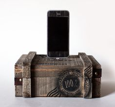 iPhone 5 - Nautical Wood Crate iPhone Dock - Hidden Compartment Box, iPhone Charger