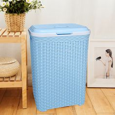 Yellow Saint Kaiko Cotton Laundry Hamper Foldable with Handle Laundry Basket Laundry Bin Round Storage Basket Dirty Clothes Holder for Nursery Toys Clothing in Geometric Shapes