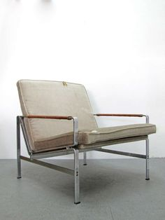 Preben Fabricius and Jørgen Kastholm; #FK 6720 Steel and Leather Arm Chair, 1968.