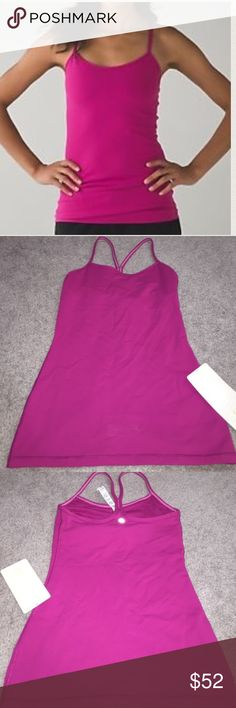 ❤️CLEARANCE Lululemon Power Y Tank NWT/2 Rasp. Lululemon Power Y Tank NWT/2 Rasp.                                NO TRADES.   CLEARANCE PRICE FIRM lululemon athletica Tops