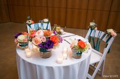 colorful sweetheart table for the bride and groom ~ we ❤ this! moncheribridals.com