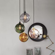 Hängelampe / modern / geblasenes Glas / Gewebe BALLROOM  Design By Us