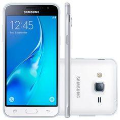 Celular Smartphone Samsung Galaxy J3 2016 Branco - Dual Chip, 4G, Tela HD 5.0, Câmera 8 MP + Frontal 5 MP, Quad Core 1.5 Ghz, 8GB, Android 5.1