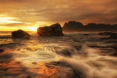 Uttakleiv in the Midnightsun by Pål Rune Lien on Oceans, Smile, Water, Outdoor, Gripe Water, Outdoors, Outdoor Games, The Great Outdoors, Laughing