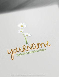 Create Your Own white Daisy Logo Online using the Flower Logo Maker. Design as many cool flowers logo ideas as you need Free! Flower Shop Names, Shop Name Ideas, Plant Logos, Florist Logo, Makeup Artist Logo, Online Logo, Tree Logos, Flower Logo, Business Logo