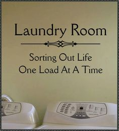 Vinyl Wall Quote Lettering Laundry Room Sorting by WallsThatTalk, $13.00