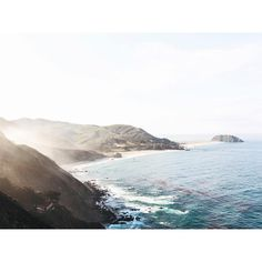 "C E R E A L on Instagram: """"The fog might break momentarily, offering you flashes of rocky shore, flares of sunlight, and mossy bluffs. The air will smell sweet, like the kelp and foam down on the beach, and fragrant, like the eucalyptus and sage growing at your feet"" An excerpt from a story on Big Sur, as featured in Cereal Volume 10. Read more at readcereal.com/bigsur"""
