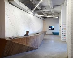Bemis InfoShop in Omaha / MIN I DAY. Photo © MSinclair . Architecture + built-in furniture integration