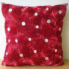 Bed Of Roses  Pillow Sham Covers 24x24 Inches by TheHomeCentric