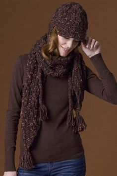 Cinnamon Hat & Scarf in JACKSON page 11