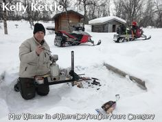 "Kelly Kettle 'Memory Maker' Photo competition: MAY WINNER in the #WhereDoYouUseYours Category is Bruno Keiser!    ""My best friend and I went on a one week snowmobile trip from my home in Northern Lapland to the ice sea in Norway. There's no better thing than having a coffee break or an instant soup in the wilderness. Needless to say Kelly Kettle did a great job in the cold.""   #Lapland #Norway #snowmobiling #winter #minusdegrees #coffeebreak    Congratulations Bruno. Mail gone to you just… Kelly Kettle, My Best Friend, Best Friends, Photo Competition, Coffee Break, Wilderness, Norway, Congratulations, To Go"