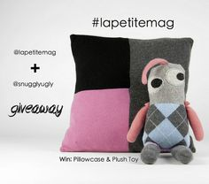 La Petite + Snuggly Ugly Giveaway ...Win a Cashmere Pillowcase & Plush Toy!