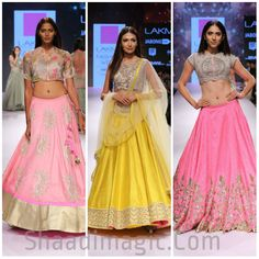Lakme fashion week -2015, day 4 was so versatile and so enriching in bridal wears that we had to split our single articles in different articles because of the vivid range of bridal assemblage on the ramp today. This article will showcase the very , very, very beautiful collection of Anushree Reddy.