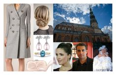 """Attending the christening of her goddaughter, Christine Elza Dimants, at St. Peter's Church in Riga"" by dana-avots ❤ liked on Polyvore featuring Carvela and Prada"