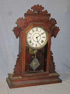 "Ingraham Gingerbread Shelf Clock "" As Is""    /    J1 | #343924234"
