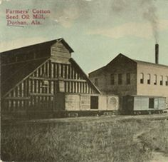"""""""Farmers' Cotton Seed Oil Mill, Dothan, Ala."""" :: Alabama Photographs and Pictures Collection"""