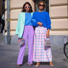 Michaela Wissén And Thérèse H Stockholm Tag your stylish bestie! Pastel Outfit, Fashion Colours, Colorful Fashion, Daily Fashion, Love Fashion, Fashion Design, Stylish Outfits, Fashion Outfits, Fashion Trends