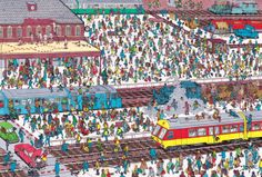wheres wally railroad station Hidden Pictures, Weird Pictures, Where's Waldo Pictures, Wo Ist Waldo, Ou Est Charlie, Tangram, Wheres Wally, Magic Squares, Number Puzzles