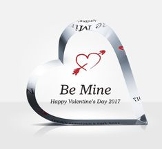 """""""Be Mine Valentine."""" Send this beautiful crystal heart to say """"Be Mine"""" to that special Valentine. Pamper the one you love the most this Valentine's Day! Valentine Special, Valentine Heart, Valentines Diy, Award Plaques, Crystal Awards, Losing Faith, Crystal Gifts, Wedding Anniversary Gifts, Love Gifts"""