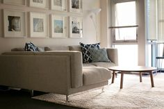 nockeby ikea sofa - His is how it looks over a white shag rug