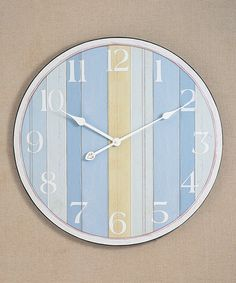 Take a look at this Nautical Stripe Wall Clock by Young's on #zulily today!
