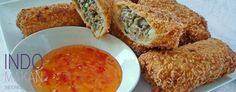 Risolles - Fried, stuffed packets with spicy minced meat