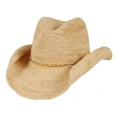 Raffia Crochet Cowboy Hat...a must have if you are floating the rivers in the Hill Country.