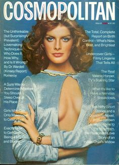 March 1975 cover with Rene Russo photographed by the late Francesco Scavullo