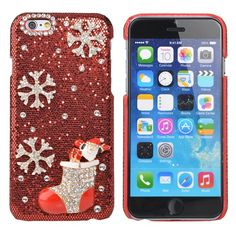 Sale 29% (6.29$) - Luxury Crystal Handmade Bling Christmas Stockings Case For iPhone 6