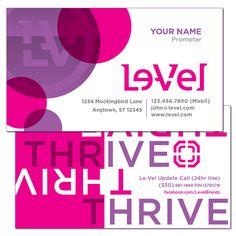 Le Vel Thrive Horizontal Business Card Vitamins Cards
