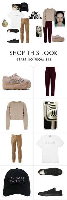 """""""Haters, Back Off!: Miranda and Patrick"""" by ghudgirl ❤ liked on Polyvore featuring Zimmermann, Philosophy di Lorenzo Serafini, My Mum Made It, Casetify, Dockers, A.P.C., Nasaseasons and Converse"""