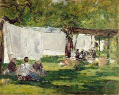 Eugene Louis Boudin Paintings | ... painting - Eugene Louis Boudin The Laundry at Collise St. Simeon Art