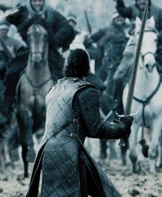 "elizabthturner: "" ""Jon Snow readying to fight Ramsay Bolton's army in 'Battle of the Bastards' "" """
