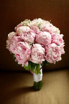 My wedding bouquet - pink peonies