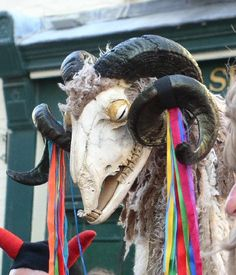 "The Thameside Mummers' ""Derby Tup"" as used in their performance of the Harthill mummers' play (Derbyshire)"