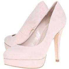 Carvela Amelia Suede Platform Court Shoes, Pink ($75) ❤ liked on Polyvore featuring shoes, pumps, heels, high heels, chaussures, sapatos, low heel shoes, suede platform pumps, pink stilettos and heels & pumps