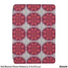 Red Abstract Flower Pattern