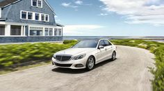 E350  Luxury Sedan in Polar White with full-LED headlamps The E-Class Luxury Sedan expresses a tradition of refinement in its boldest statement yet.