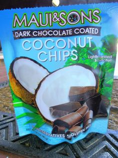Maui & Sons Dark Chocolate Coconut chips ~ I found these at the 99 cent store YUM! (: