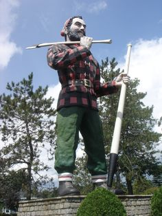 Paul Bunyan Statue (Bangor, Maine):  The sign for the 35-foot-high, 3,700-lb. figure brags that it's the world's largest statue of Paul Bunyan.