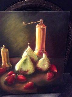 Still life. Original oil painting by Georgina Michalandos of a still life composition.
