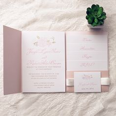Bohemian Flower Pocket Wedding Invitation Kits Iwpi031 Invitations Online Invitesweddings