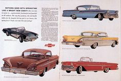 1959 Chevrolet Ad showing the line 1958 Chevy Impala, Chevrolet Impala, My Dream Car, Dream Cars, Henry Ford Model T, Chevy Metal, Corvette History, 1950s Car, Car Illustration