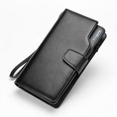 New Arrival PU Leather Men Wallets Hasp Zipper Design Credit Card Holder Multi Function Coin Purse Clutch Long Purses