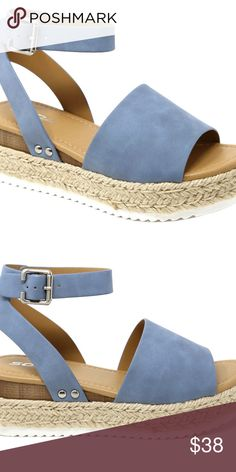 71a14ed4cd5 New Topic Blue Open Toe Platform Espadrille Sandal