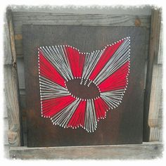 Ohio State String Art, Ohio State Football String Art, Any State String Art, OSU Football